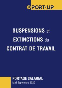 suspensions et extinctions du contrat de travail en portage salarial